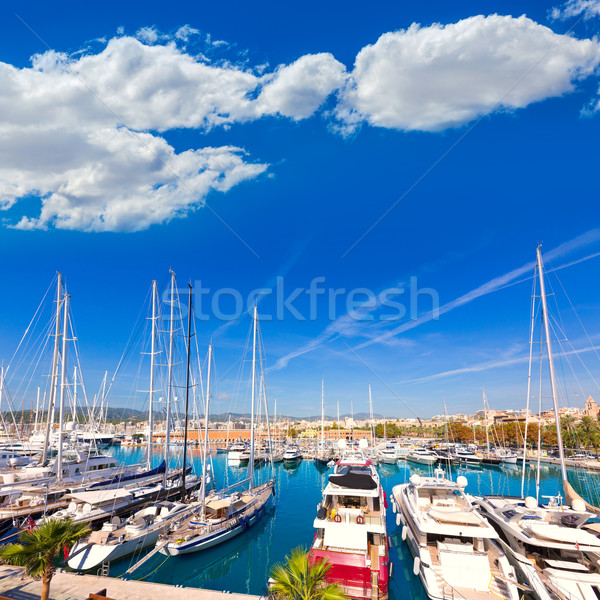 Mallorca porta marina ilha Espanha céu Foto stock © lunamarina