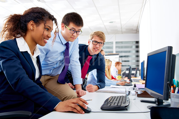 Stock photo: Business team young people multi ethnic teamwork
