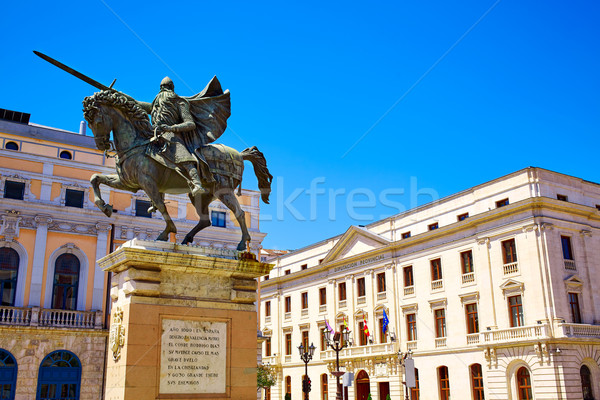 Burgos Cid Campeador statue in Castilla Spain Stock photo © lunamarina