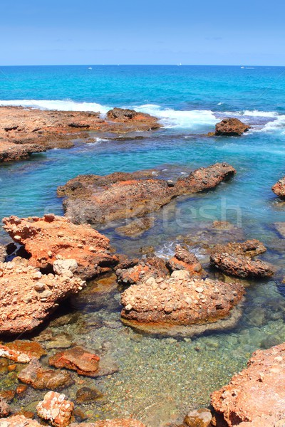 Stock photo: Las Rotas blue mediterranean sea shore Denia