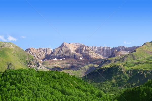 Pyrenees peaks Panticosa scenics Huesca Aragon Stock photo © lunamarina