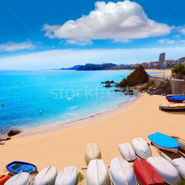 Lloret de Mar Sa Caleta beach in costa Brava Stock photo © lunamarina