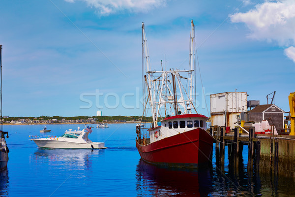 Cape cod port Massachusetts USA plage eau Photo stock © lunamarina