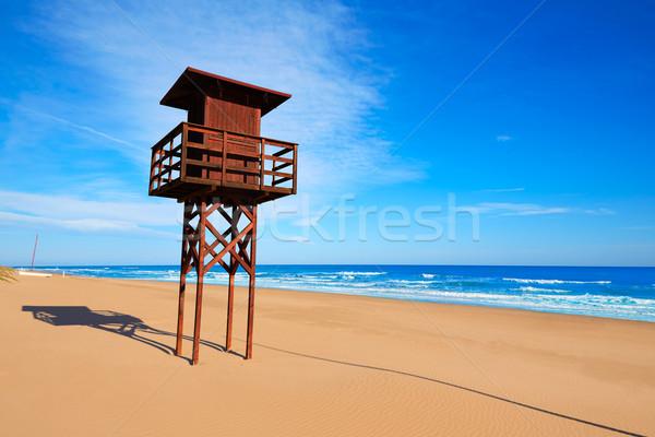 Praia mediterrânico Valência mar Espanha céu Foto stock © lunamarina