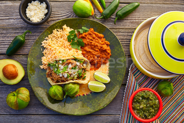 mexican; food; mexico; kitchen; international; dinner; meal; gou Stock photo © lunamarina