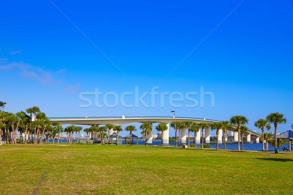 Praia rio Flórida ponte parque EUA Foto stock © lunamarina
