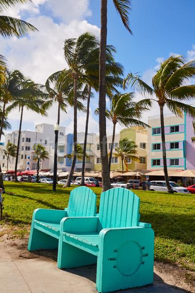Майами пляж океана art deco Флорида район Сток-фото © lunamarina
