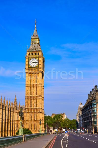 ビッグベン クロック 塔 ロンドン イングランド 市 ストックフォト © lunamarina
