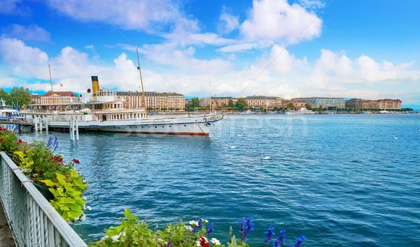 Geneva Geneve Leman lake Switzerland Stock photo © lunamarina
