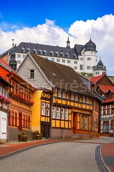 деревне гор Германия город улице синий Сток-фото © lunamarina