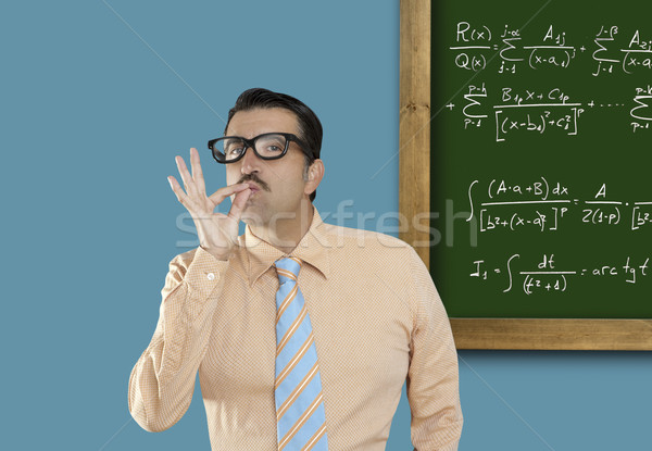 mathematical formula genius nerd geek easy resolve Stock photo © lunamarina