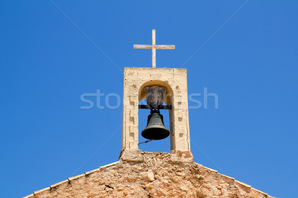 Sant Ferran stone belfry in Formentera island Stock photo © lunamarina