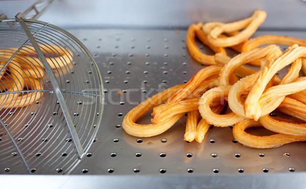 Spaans meel roestvrij staal keuken voedsel Stockfoto © lunamarina