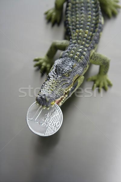 игрушку евро деньги пластиковых бумаги рот Сток-фото © lunamarina