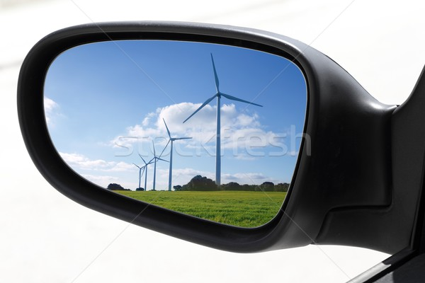 rearview car driving mirror electric windmills Stock photo © lunamarina
