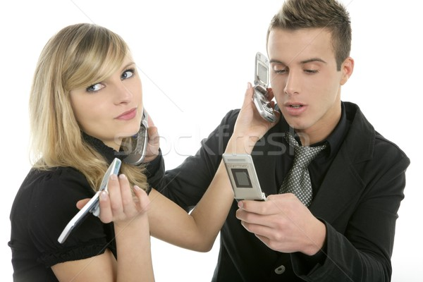 stress with phone calls, business people Stock photo © lunamarina