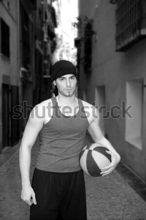 young basketball basket ball street player  Stock photo © lunamarina