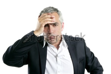 gray hair sad worried senior businessman expertise Stock photo © lunamarina