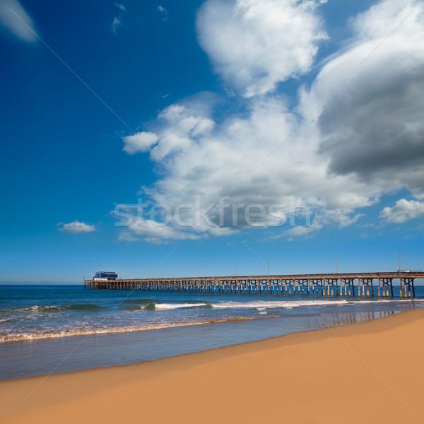 Newport pier beach in California USA Stock photo © lunamarina