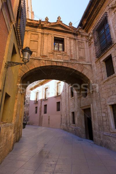 Valencia cattedrale arch strada Spagna Europa Foto d'archivio © lunamarina