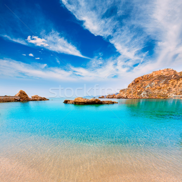 Cartagena Cala Cortina beach in Murcia Spain Stock photo © lunamarina
