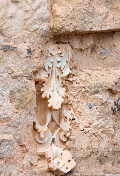 Colunas romano anfiteatro Espanha antigo edifício Foto stock © lunamarina