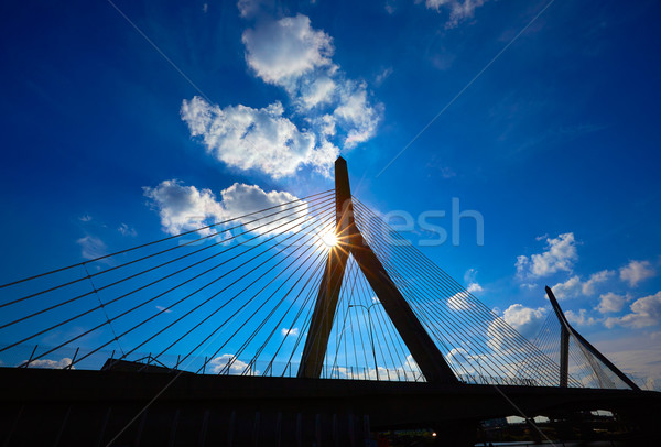 Stock photo: Boston Zakim bridge in Bunker Hill Massachusetts