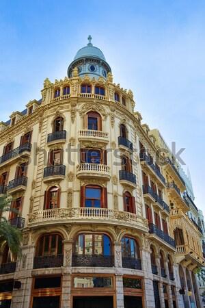 Valencia Ayuntamiento square Casa Ferrer Stock photo © lunamarina