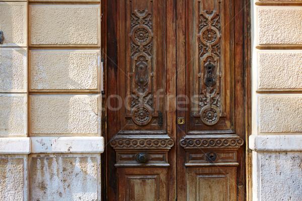 Valencia ajtó óváros Spanyolország épület utca Stock fotó © lunamarina