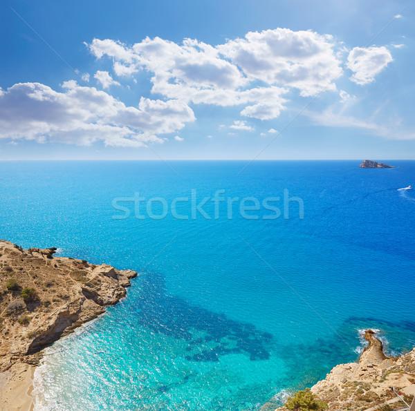 Praia mediterrânico Espanha verão oceano azul Foto stock © lunamarina