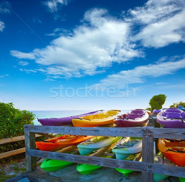 Florida Keys kayaks Bahia Honda Park US Stock photo © lunamarina