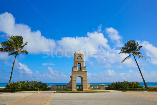 Palm Beach Worth Avenue clock tower Florida Stock photo © lunamarina
