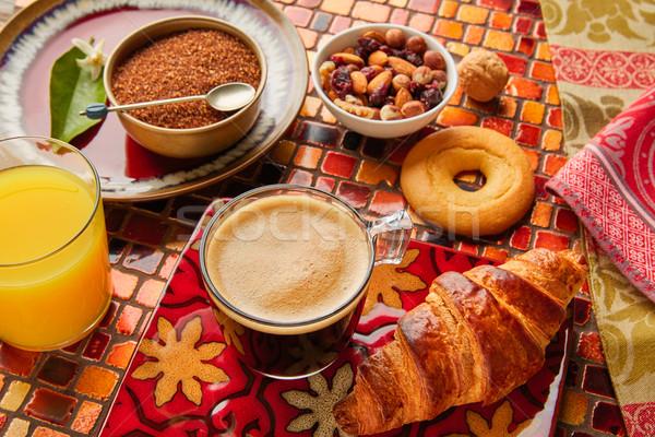 Zdjęcia stock: śniadanie · kontynentalne · rogalik · sok · pomarańczowy · śniadanie · kontynentalny