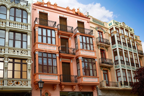 Zamora Sagasta square facades in Spain Stock photo © lunamarina