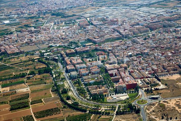 Antenne foto Valencia Spanje vliegtuig Europa Stockfoto © lunamarina