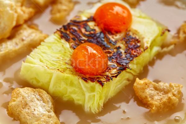 Lahana güveç domuz eti gıda mutfak restoran Stok fotoğraf © lunamarina