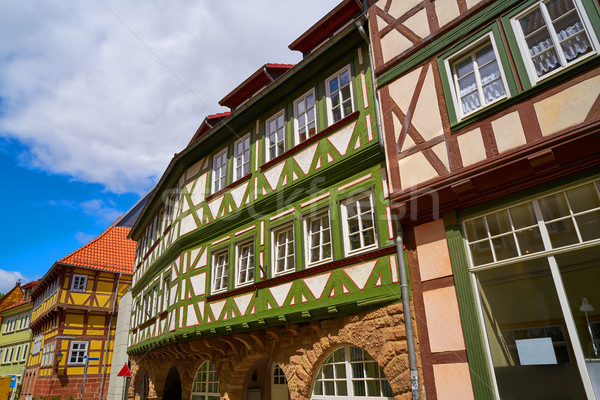 Nordhausen downtown facades Thuringia Germany Stock photo © lunamarina