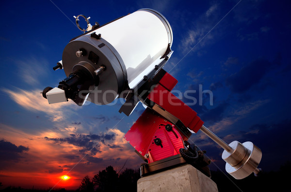 astronomical observatory telescope sunset sky Stock photo © lunamarina