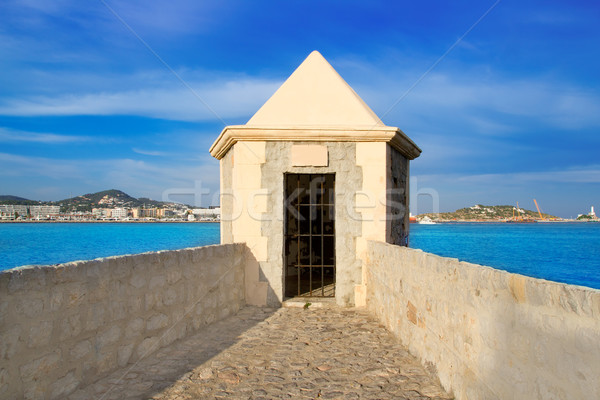 Ibiza watchtower with Eivissa port view Stock photo © lunamarina