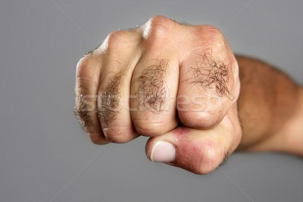волосатый человека кулаком серый аннотация Сток-фото © lunamarina
