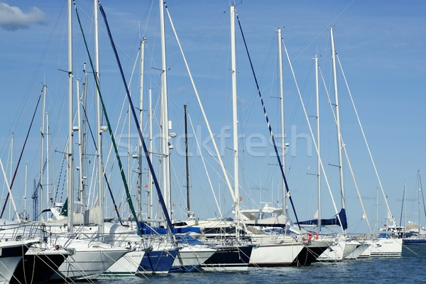 Marina in Denia, Alicante, Spain Stock photo © lunamarina