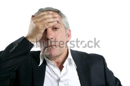 白髪 悲しい シニア ビジネスマン ストックフォト © lunamarina