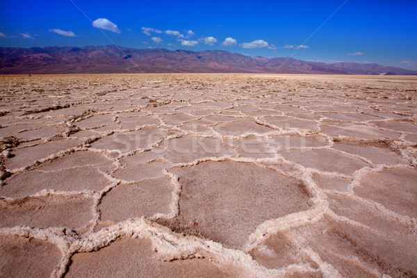 Badwater Basin Death Valley salt formations Stock photo © lunamarina