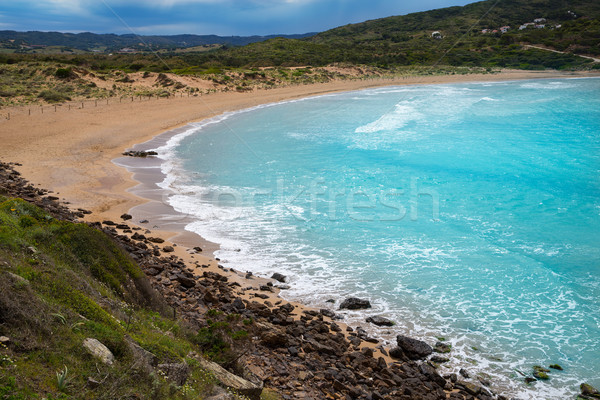 Fornells in Menorca Cala Tirant beach at Balearic Islands Stock photo © lunamarina