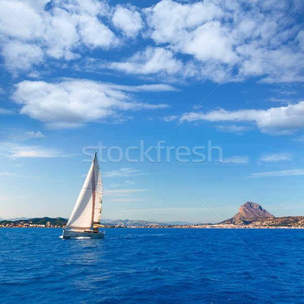 Javea sailboat sailing in Mediterranean Alicante Spain Stock photo © lunamarina