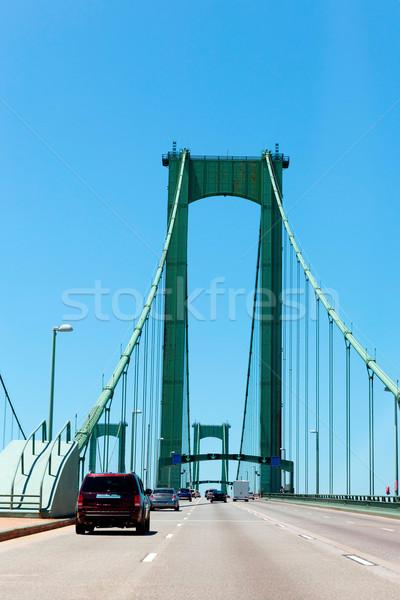 Delaware ponte novo castelo New Jersey azul Foto stock © lunamarina