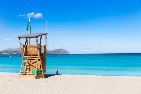 Mallorca Can Picafort beach in alcudia bay Majorca Stock photo © lunamarina