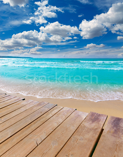 Majorca sArenal arenal beach Platja de Palma Stock photo © lunamarina