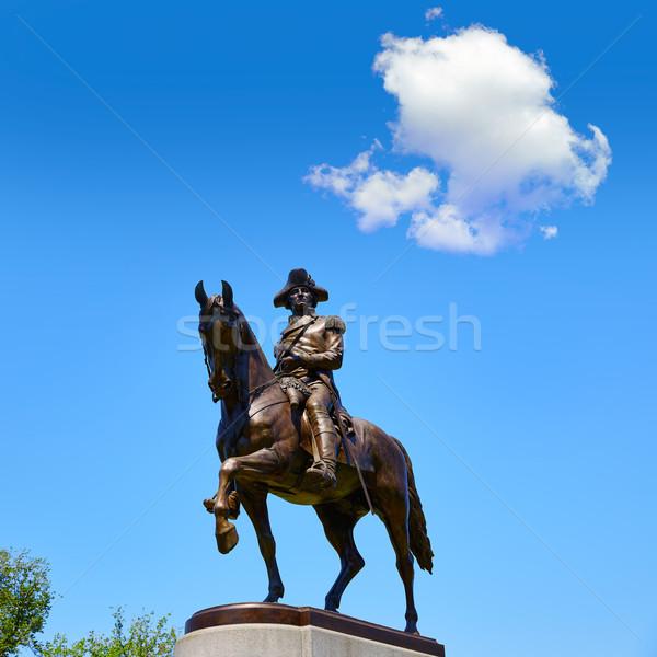 Сток-фото: Бостон · Монумент · Вашингтона · Массачусетс · США · лошади · войны
