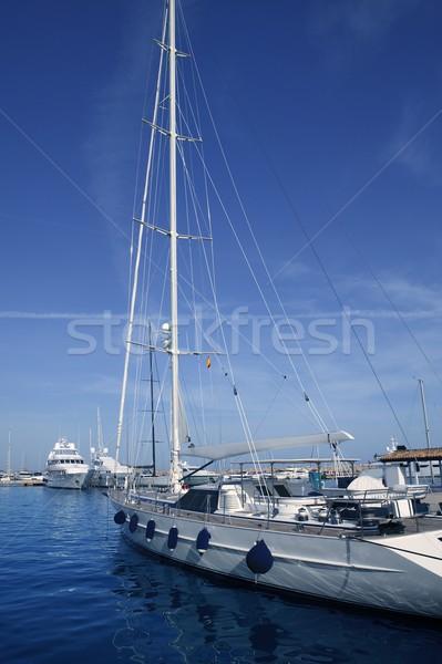 Mallorca porta porto marina Espanha iate Foto stock © lunamarina
